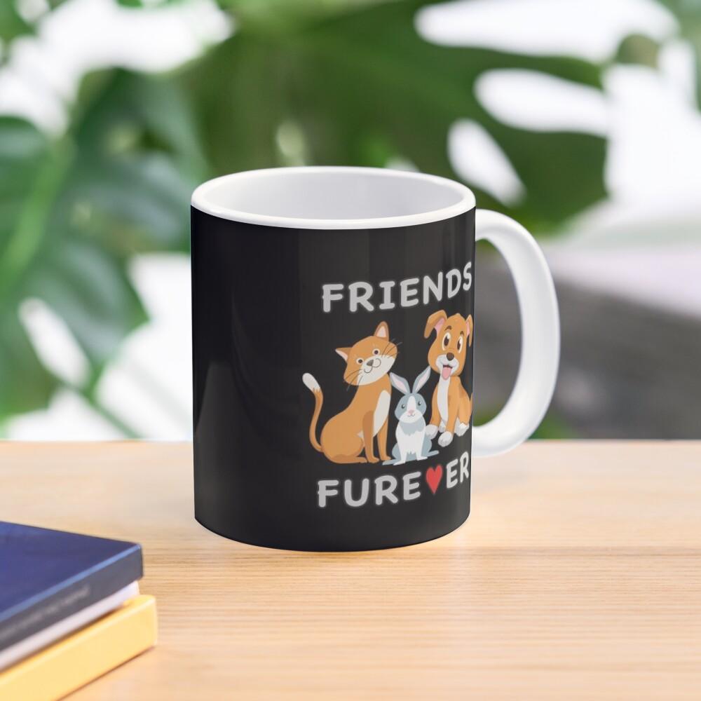 Friends Forever BFF Dog Cat Bunny Rabbit Kids Gift. Mug