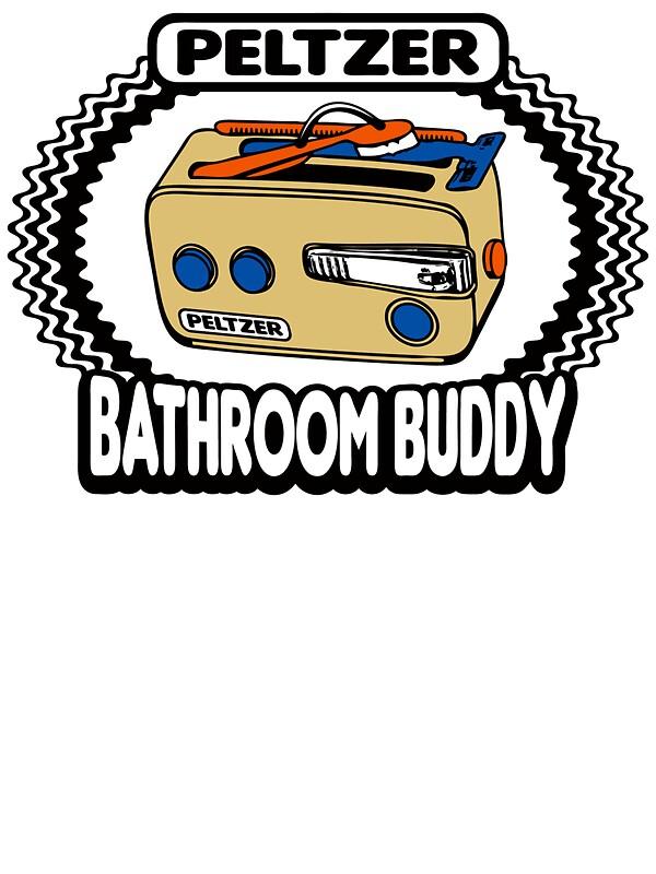 """Peltzer Bathroom Buddy"" Stickers By Anfa"