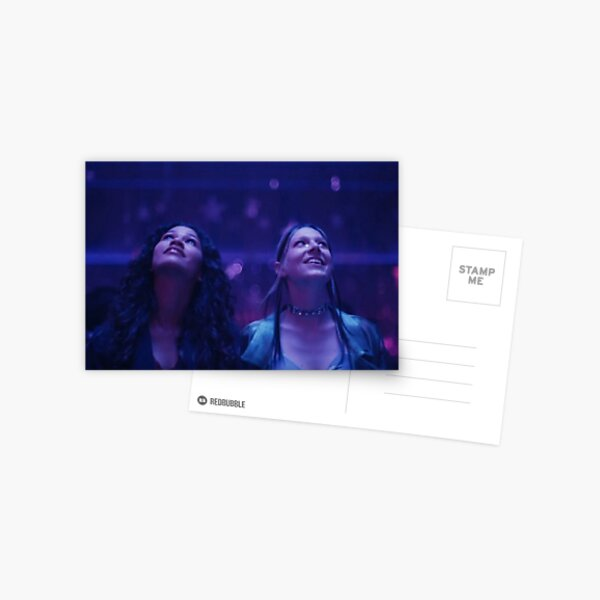 Euphoria rue and Jules  Postcard