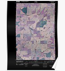 USGS Topo Map Washington State WA Oakesdale 20110401 TM Inverted Poster