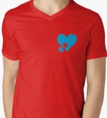 Autism Puzzle Heart Men's V-Neck T-Shirt