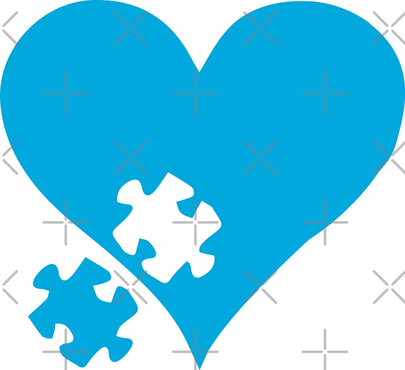 U0026quot Autism Puzzle Heart U0026quot  Stickers By Lolotees