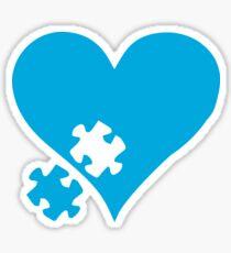 Autism Puzzle Heart Sticker