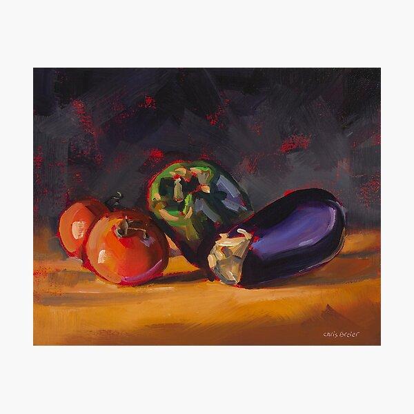 Pepper Tomatoes & Eggplant Photographic Print