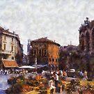 Verona - Flowermarket by Gilberte