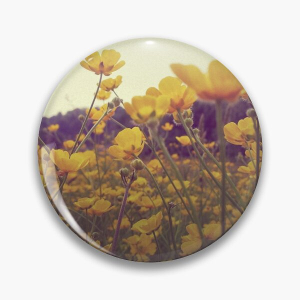 Yellow Buttercup Meadow in Scotland Summer Pin