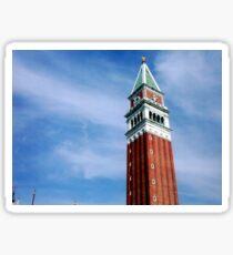 """BELL TOWER OF SAN MARCO - """"EL PARON DE CAXA"""" - VENEZIA  - -EUROPA- 5000  AMICI TI HANNO SALUTATO MIKE !!!                                                                                               Sticker"""