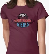 Free Moustache Rides Womens Fitted T-Shirt