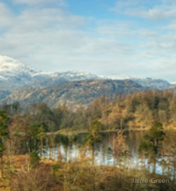 Mountains and Tarn by Jamie  Green