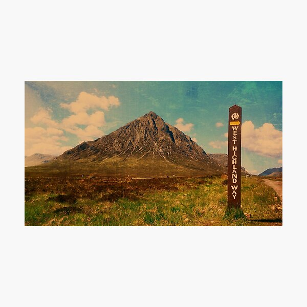 West Highland Way and The Buachaille Photographic Print