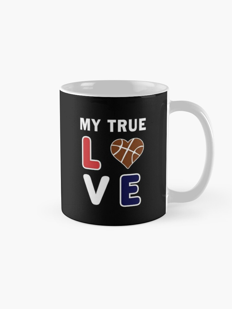 Alternate view of Bball My True Love Practice Hoops Bballer Coach. Mug