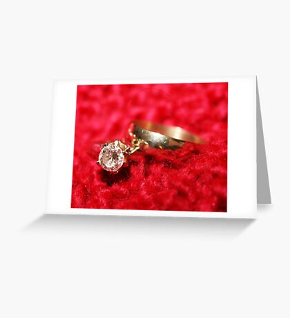 with this ring.... Greeting Card