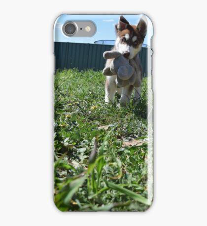 Jax- Cute husky malamute puppy iPhone Case/Skin