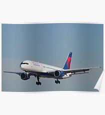 Delta Airlines Boeing 757 Approach KLAS Poster