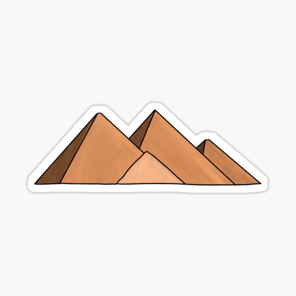 The Pyramids of Giza: 7 Wonders of the World Travel Illustrations Sticker