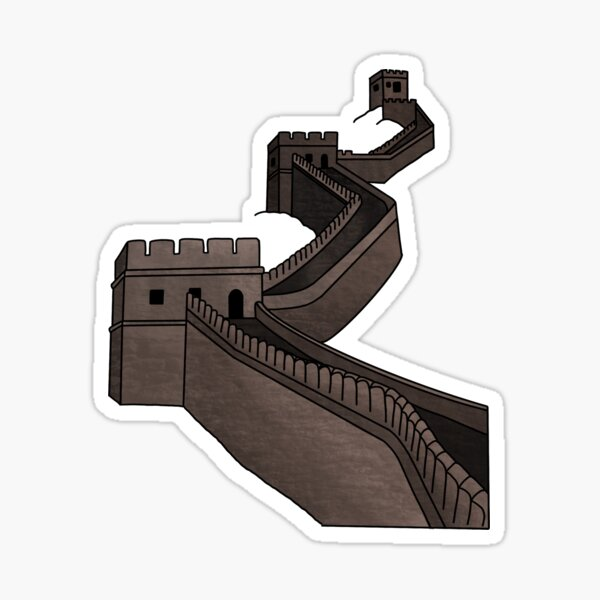 The Great Wall of China: 7 Wonders of the World Sticker