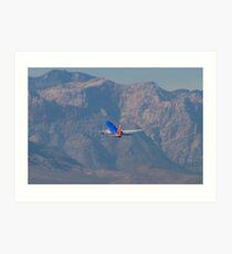 N370SW Southwest Airlines Boeing 737-7H4 Departure Art Print