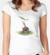 Ferrets in the rain Women's Fitted Scoop T-Shirt