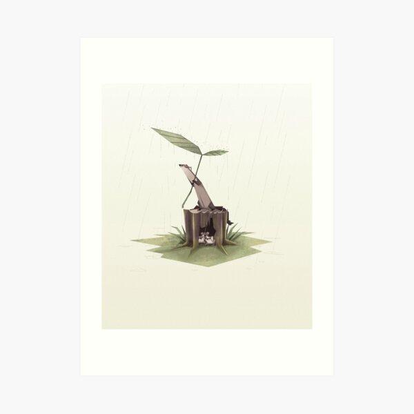 Ferrets in the rain Art Print