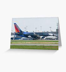 N715SW Southwest Airlines Boeing 737-7H4 Shamu Greeting Card