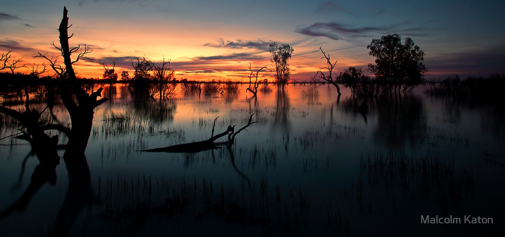 End of the Day - Menindee NSW by Malcolm Katon
