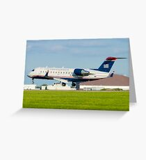 N428AW US Airways Express CL-600-2B19 Greeting Card