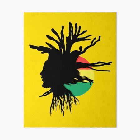 Rasta Dreads Ethiopian Flag Reggae Roots Rastafarian Jamaica Art Board Print