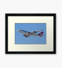 Side Shot G-VAST Virgin Atlantic Airways Boeing 747-400 Framed Print
