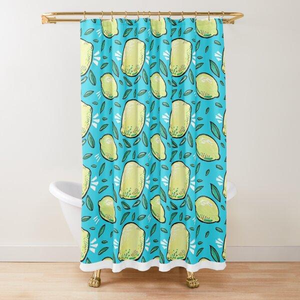 Blue Skies Lemonade Shower Curtain
