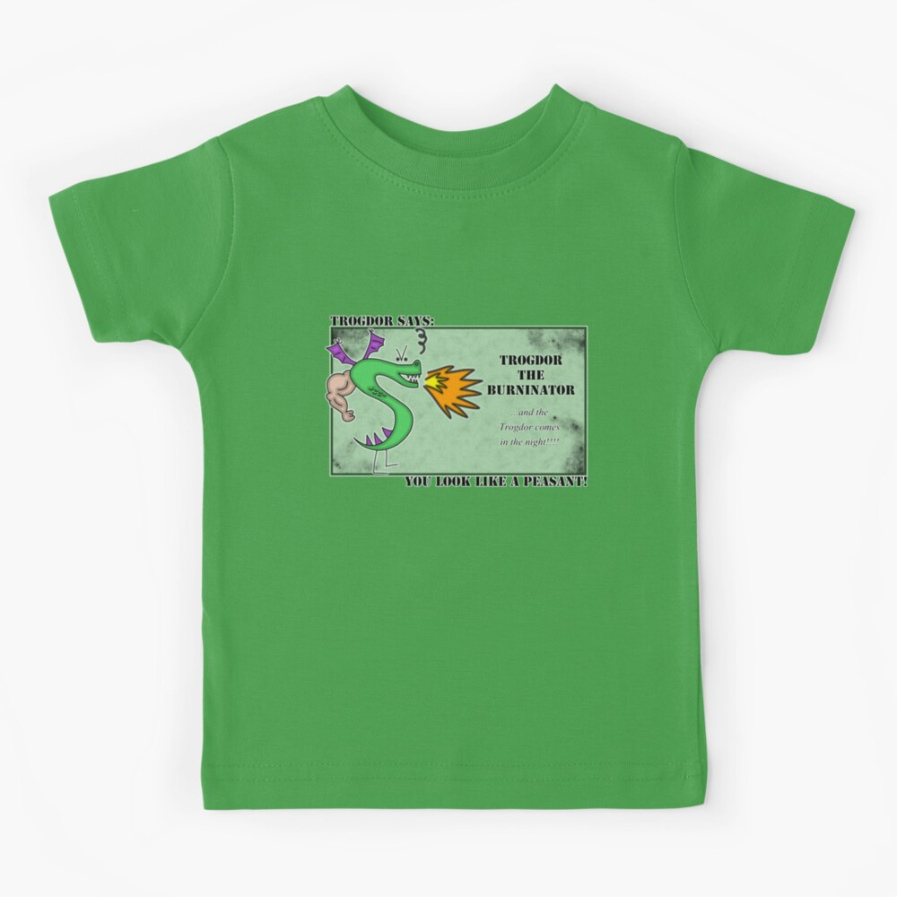 Trogdor the Burninator - Peasants Kids T-Shirt