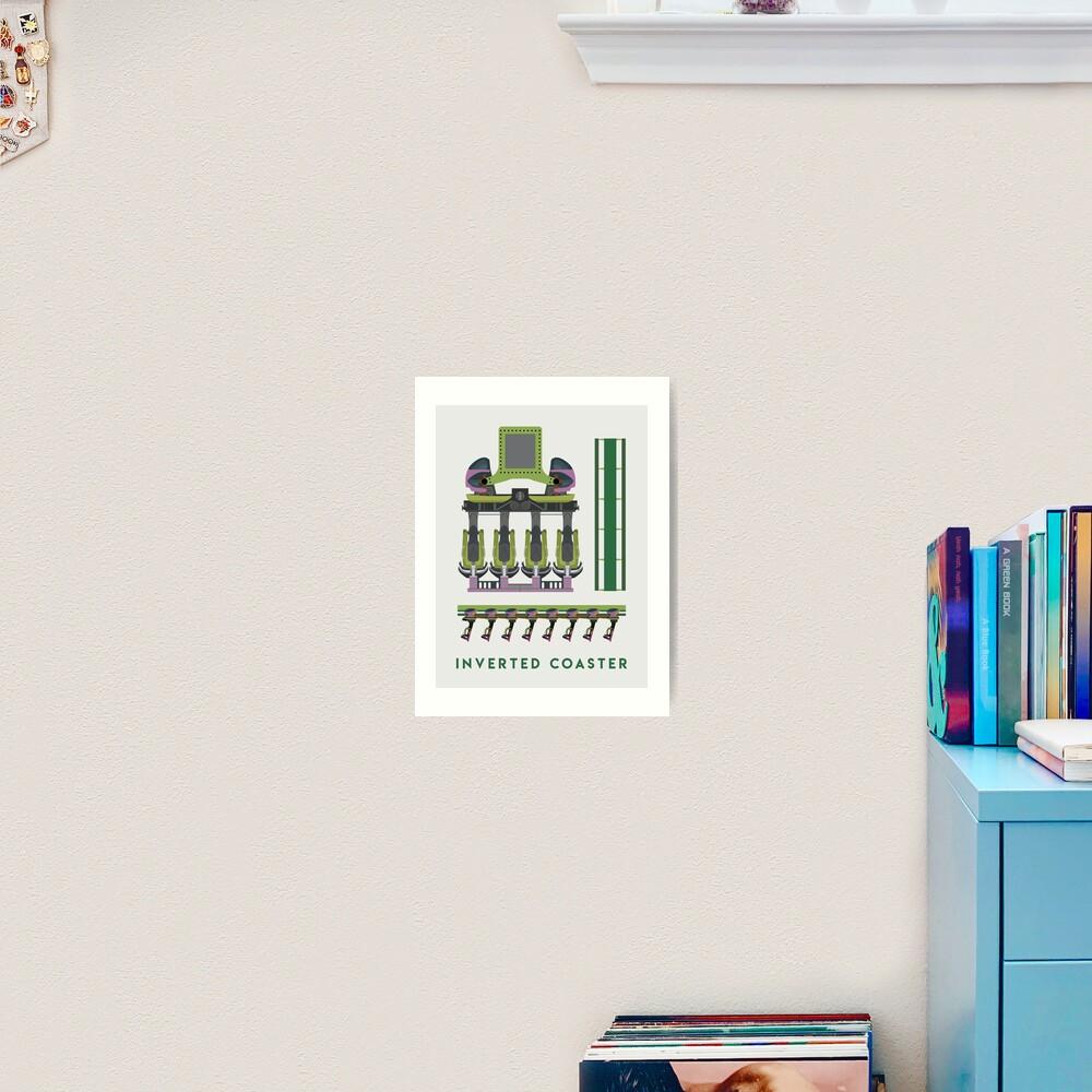 B&M Inverted Coaster Design - Raptor at Cedar Point Art Print