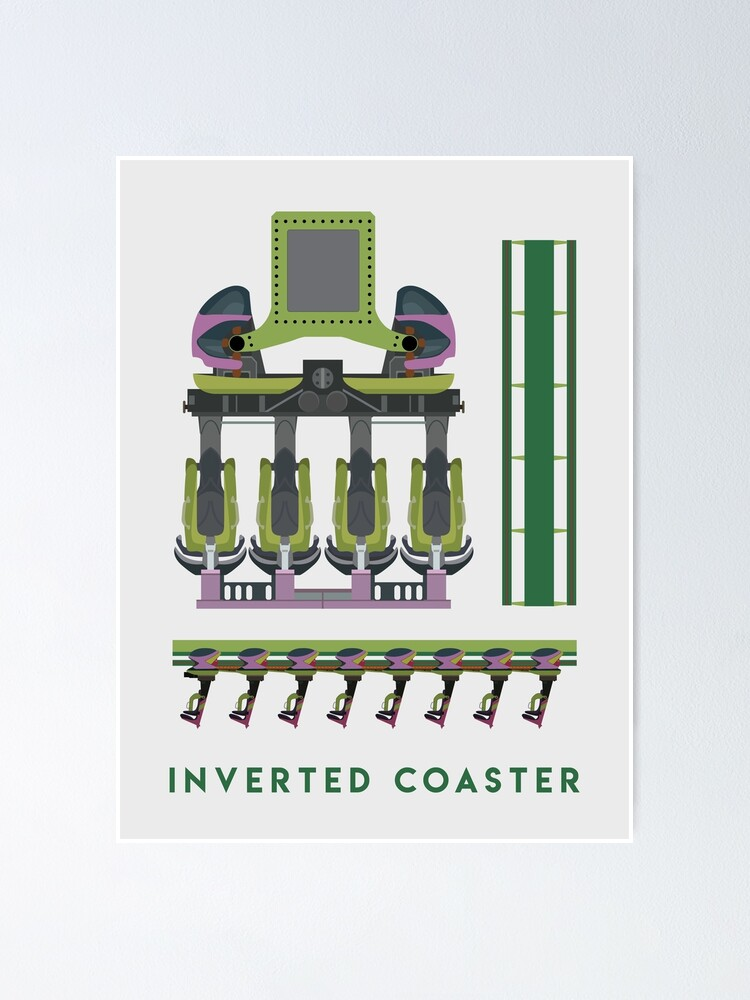 Alternate view of B&M Inverted Coaster Design - Raptor at Cedar Point Poster