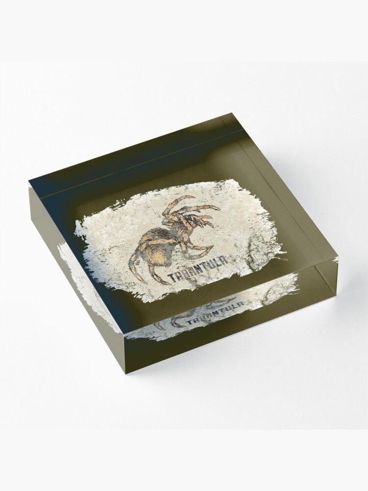 Alternate view of Tarantula Spider Lover Tarantula Pet Owner Vintage Arachnid Graphic Print Acrylic Block
