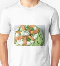 Mousse With Salmon, Cucumber and Herbals Unisex T-Shirt
