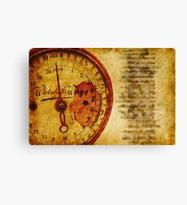 Kitchen Scale Canvas Print
