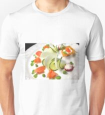 Smoked Trout with Friends Tricolore T-Shirt