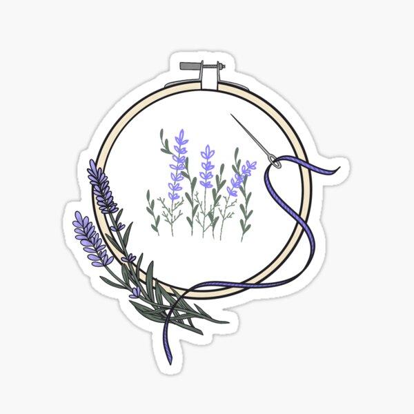 Lavender Hoop Sticker