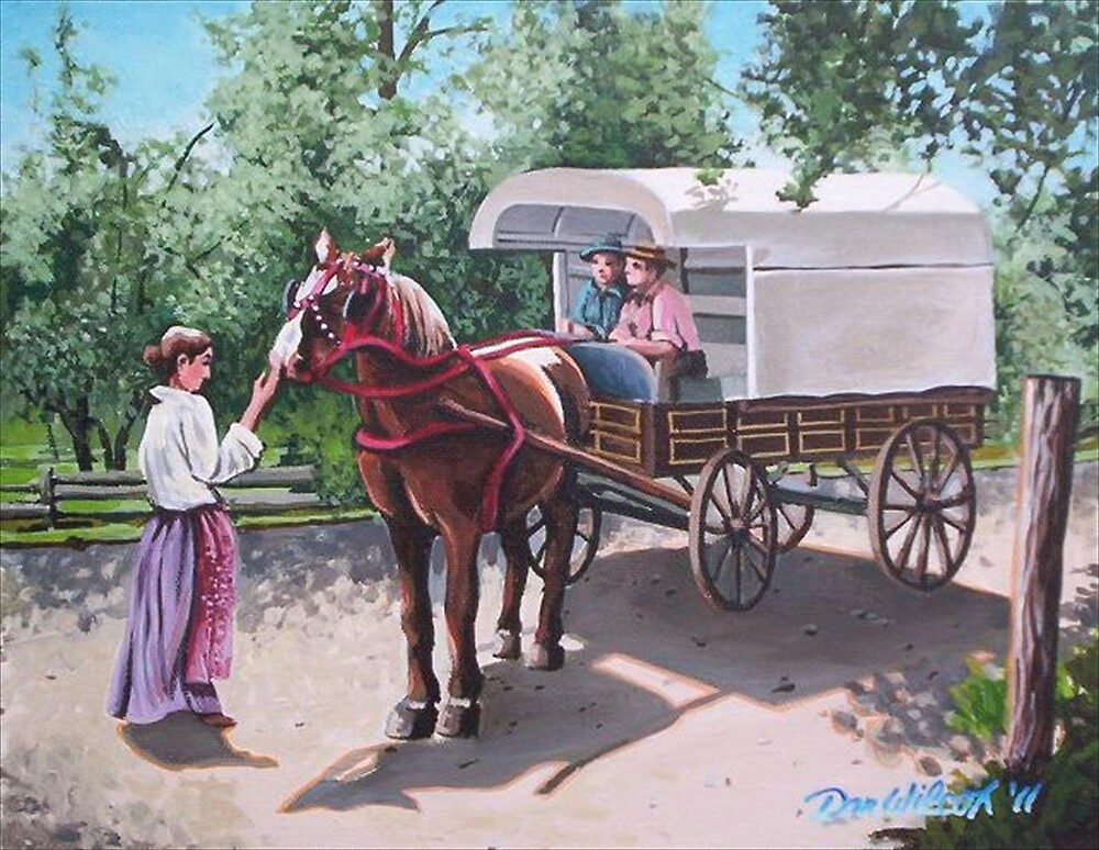 Delivery wagon at Upper Canada Village by Dan Wilcox