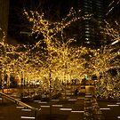 A Little Golden Garden in the Heart of Manhattan, New York City  by Georgia Mizuleva