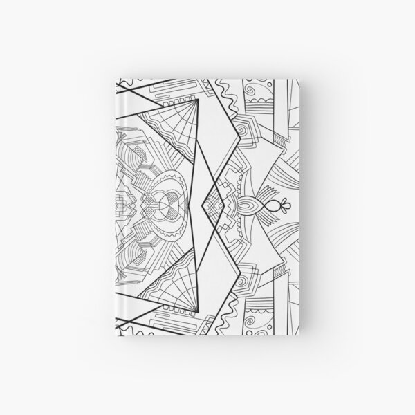 Abstract Shapes Coloring Art - Doodle Art Alley Hardcover Journal
