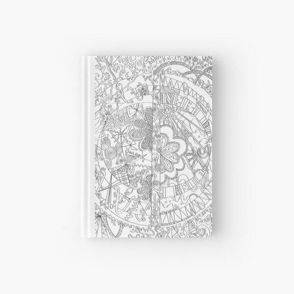 Abstract Coloring Art - Doodle Art Alley Hardcover Journal