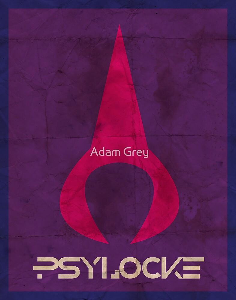 Minimalist Psylocke by Adam Grey