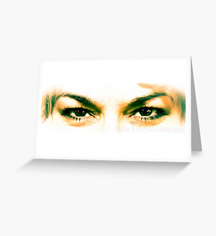 The Eyes of a Gypsy Greeting Card
