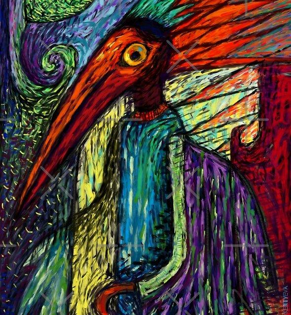 Fire Crow by Lyuda