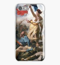 Liberty Leading the People by Eugène Delacroix (1830) iPhone Case/Skin
