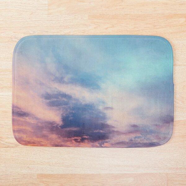 Rainbow Summer Sunset Bath Mat