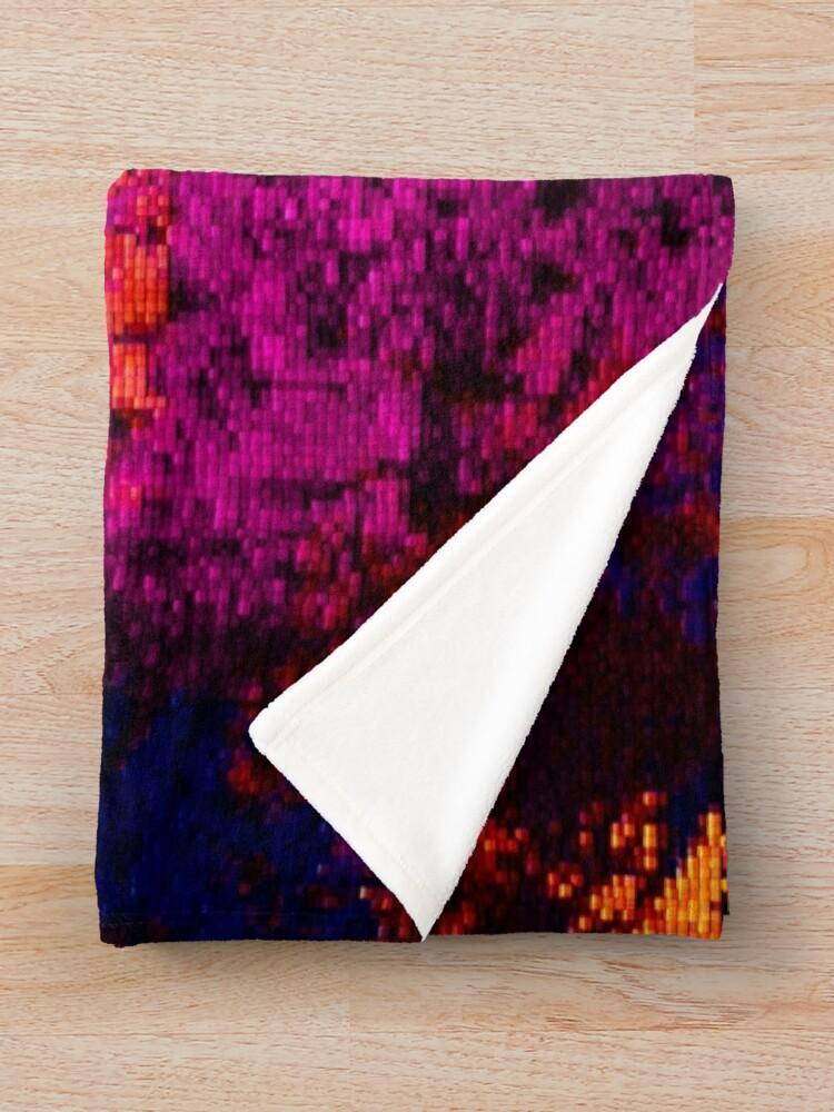 Alternate view of Crushed Velvet Grunge Print Throw Blanket