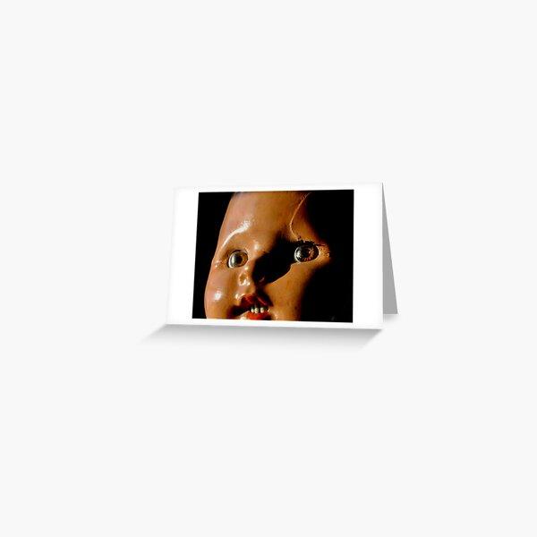 Baby Doll Head Greeting Card