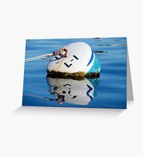 Buoy in Blue Greeting Card