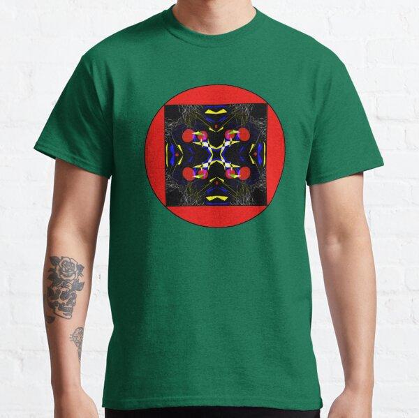 Graphisme geometrique multicolore sur fond noir  Classic T-Shirt